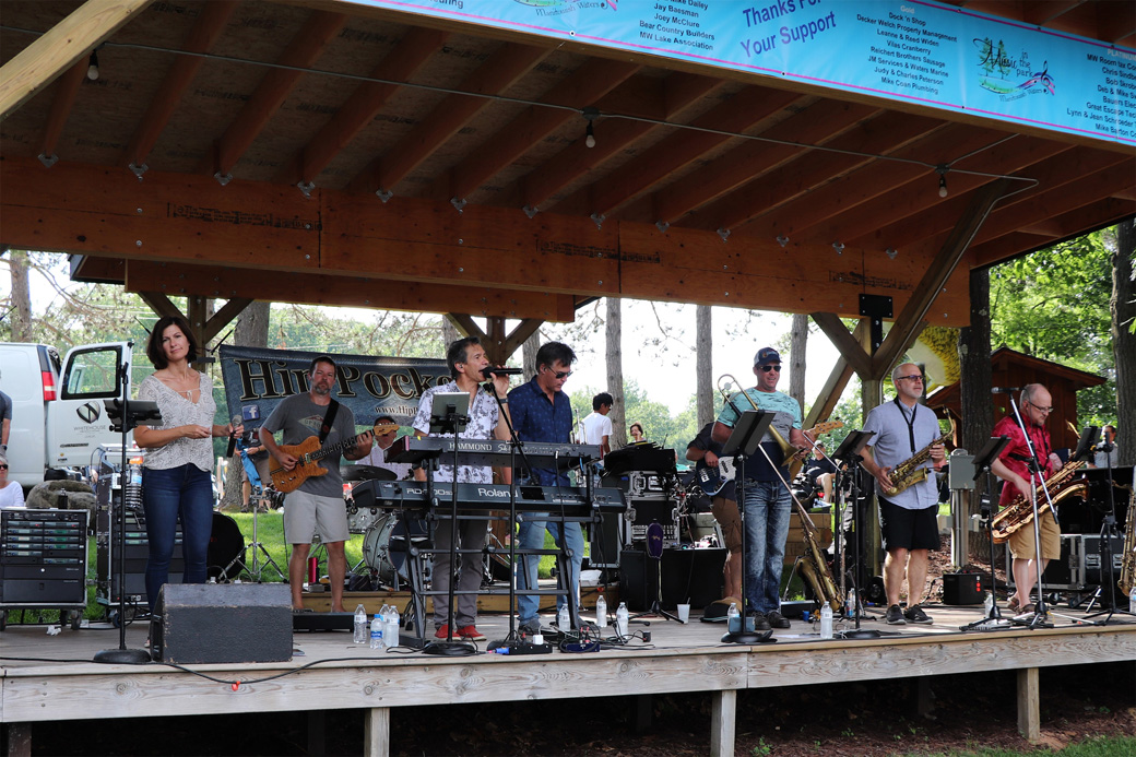Northwoods band Hip Pocket plays at Kohler Park in Manitowish Waters