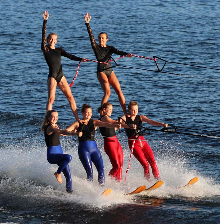 The Min-Aqua Bats perform during the ski show in Minocqua.