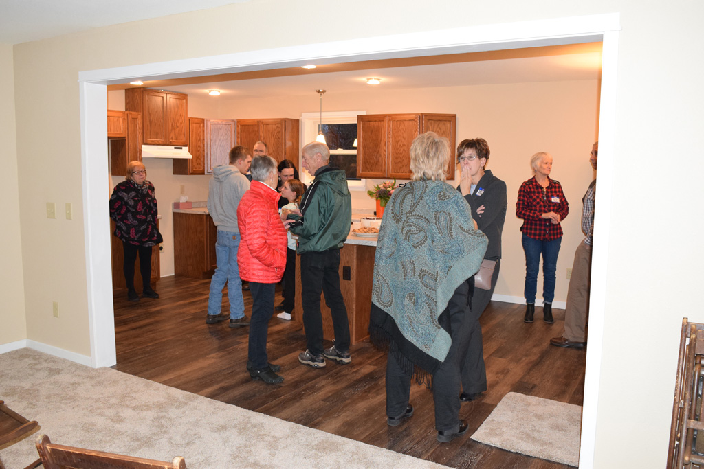 An open house was held at the newly completed home on Phillip Street.