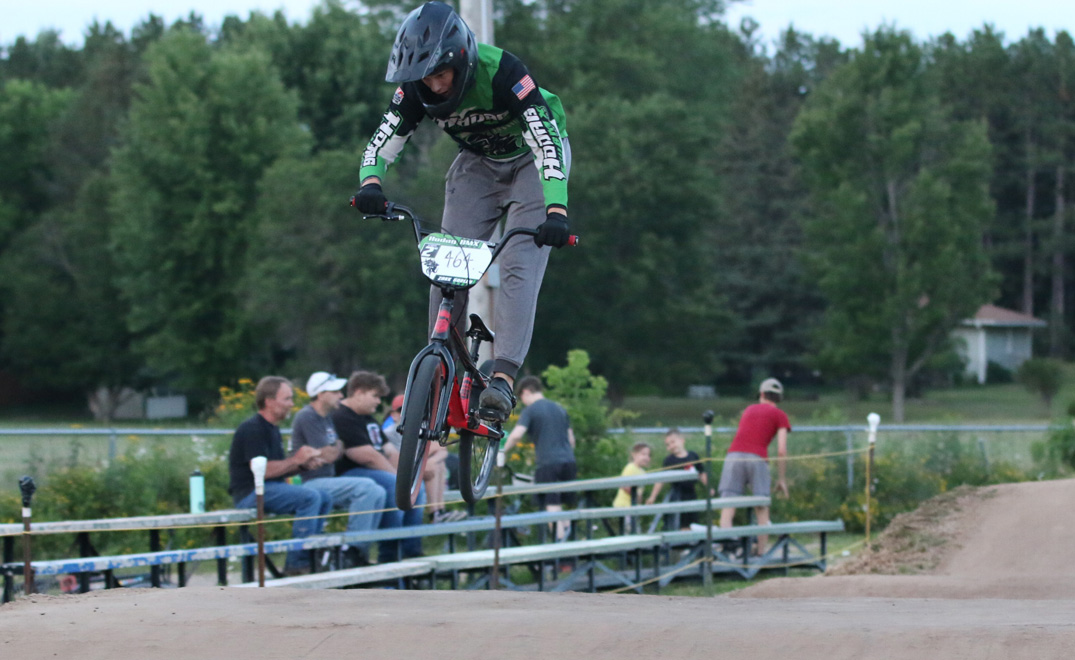 Zakk Sorley gets some air before finishing in second place on the night.